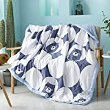Uther Thin Comforter for Summer Washable Quilted Coverlet Bedspread Bed Cover Summer Quilt Blanket (Bear,King)