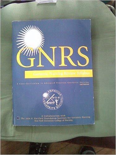 Book Geriatric Nursing Review Syllabus, 2nd Edition by American Geriatrics Society (2007-05-01)