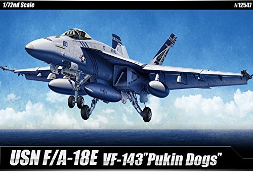 1/72 Usn F/a-18e Vf-143 Pukin Dogs #12547 Academy Hobby Model Kits from Academy Plastics (D)