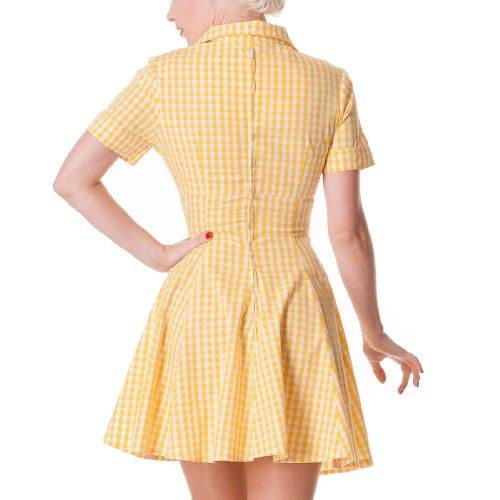 Hell Bunny - Vestido - para mujer amarillo