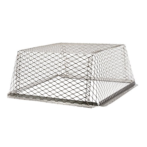 HY-C RVG3030 Stainless Steel Roof VentGuard with Wildlife Exclusion Screen, 30'' x 30'' x 12'' by Hy-C