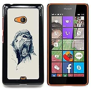 For Nokia Lumia 540 Case , Oh broche amor del corazón del lunar - Diseño Patrón Teléfono Caso Cubierta Case Bumper Duro Protección Case Cover Funda