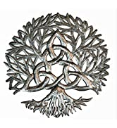Celtic Knot Symbol, Tree of life Wall Hanging Art, Authentic Upcycled Artwork from Haiti, Handmad...