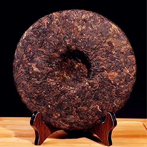 Yan Hou Tang Organic Compressed Chinese Yunan 10 Years Aged Puerh Tea Cake Ripe Fermented Black Tea 357g - Collectible Tea Gifts Non-GMO Detox Weight Loss US FDA SGS Verified