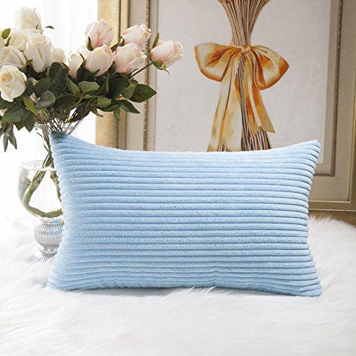 HOME BRILLIANT Decorative Striped Corduroy Rectangle Cushion