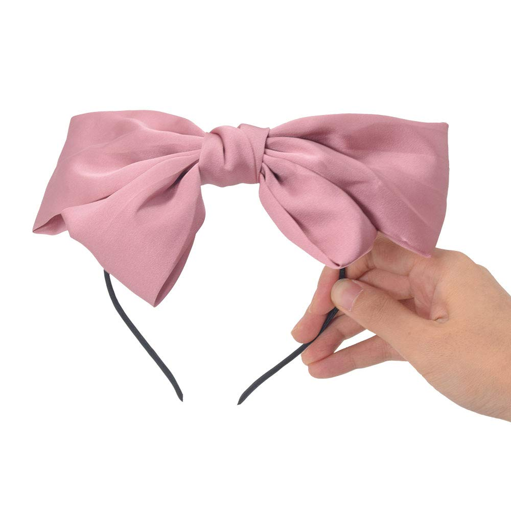 Purple and Black large bow french barrette hair accessories Shimmering Organza girlish bow french barrette for women Pink