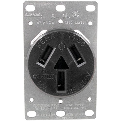 No Logo 5206 Single-Flush Range Receptacle (3 Wire) (Flush Receptacle Range)