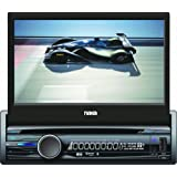 Naxa NCD-705 7-Inch Touch Screen LCD Display Motorized Slide Down Full Detachable Stereo AM/FM Radio Multimedia Player