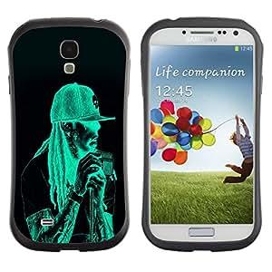 Suave TPU GEL Carcasa Funda Silicona Blando Estuche Caso de protección (para) Samsung Galaxy S4 I9500 / CECELL Phone case / / Neon Rasta Guy /