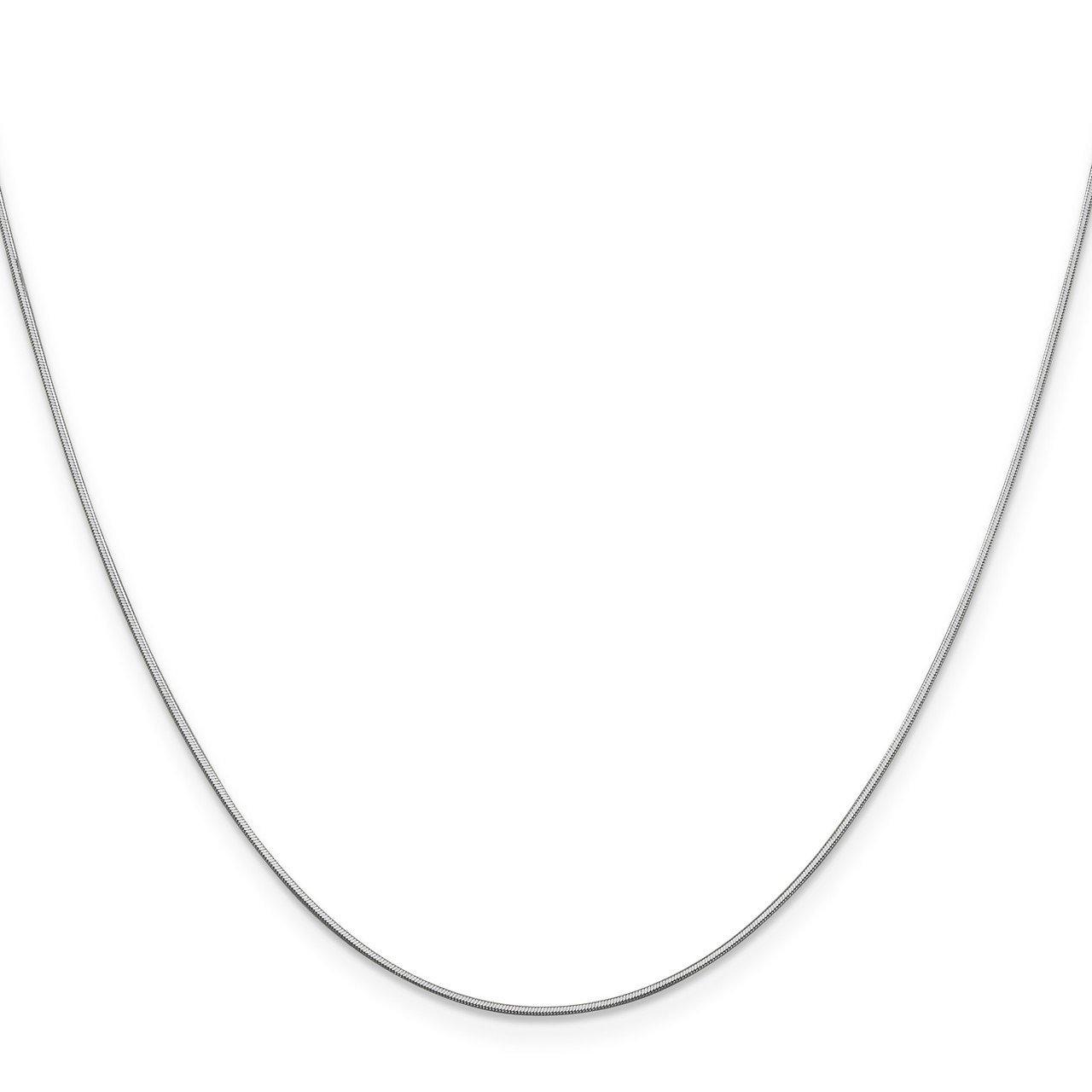 Lex /& Lu 14k White Gold .80mm Ocatagonal Snake Chain Necklace or Bracelet