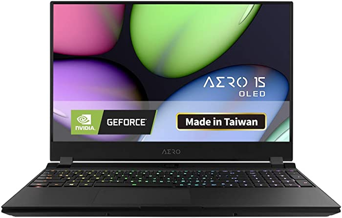 "Gigabyte AERO 15 OLED SA-7US5130SH Thin and Light Laptop, 15.6"" Thin Bezel Samsung UHD AMOLED Panel, i7-9750H, NVIDIA GeForce GTX1660Ti,16GB RAM, M.2 PCIe 512GB SSD, Win 10, 94Wh Battery"