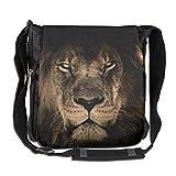 SARA NELL Messenger Bag,africa Wild Lion,Unisex Shoulder Backpack Cross-body Sling Bag