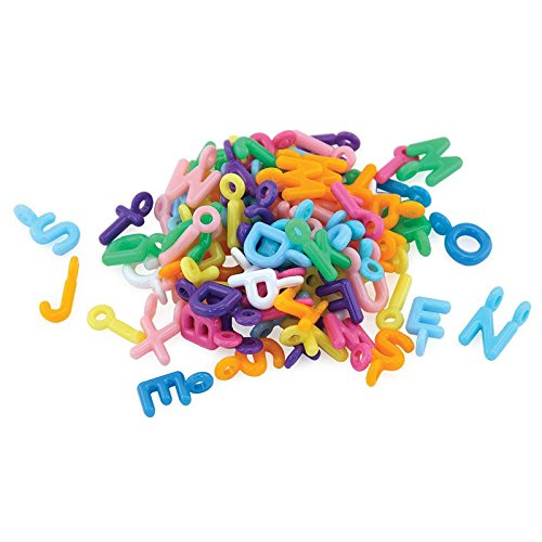 Hygloss 300 Alphabet Letter Plastic Colored Charms (Colored Alphabet Letters)