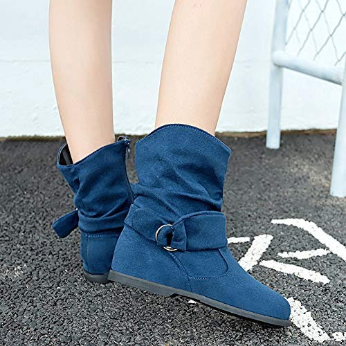 Flat Middle SALE Booties Boots Vintage Boots Soft Women Ankle Farjing Feet Shoes HOT Blue Boots Style Set For Of 0w8qtZxa