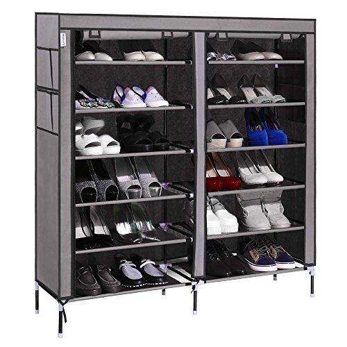 homdox portable shoe storage cabinet space saving shoe tower rack organizer