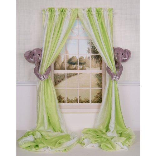 Curtain Critters ALGYEL060809SET Plush Safari Elephant Curtain Tieback Set- 2 from Curtain Critters
