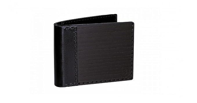Cartera de cuero y madera Nox Tenebra – cartera para hombre – cartera negra – cartera