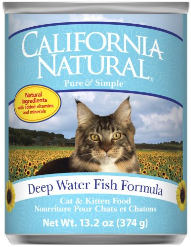California Natural Deep Water Fish and Brown Rice Canned Cat and Kitten Food – 12×13.2 oz, My Pet Supplies