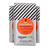 50 decaf coffee beans - AmazonFresh Decaf Colombia Ground Coffee, Medium Roast, 12 Ounce (Pack of 3)