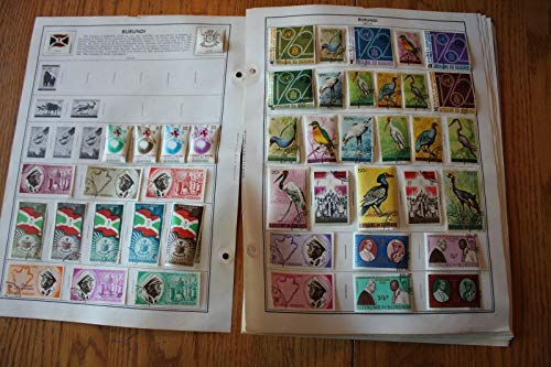 M04 Lot of Burundi Stamps on 18 Pages from H.E. Harris & Co Album binder