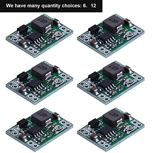6 Pack Mini MP1584EN DC-DC Buck Converter Adjustable Power Step Down Module 24V to 12V 9V 5V 3V (6 Pack) ()
