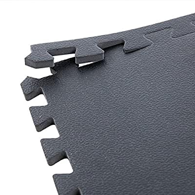 """IncStores High Density Gym Foam Tiles - 3/4"""" or 3/8"""" Textured For High Intensity Workouts And Exercise"""