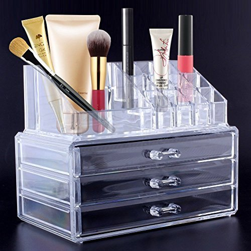 Amzdeal Arcylic Makeup Organizer 2 Piece 3 Layers Jewelry