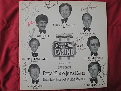 Royal Dixie Jazz Band on Bourbon Street in Las Vegas - Signed Signed Casino