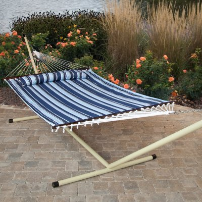 Hammock with Stand: Island Bay Nautical Quilted Hammock with