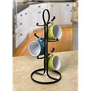 Spectrum Diversified Ashley Mug Holder, Black