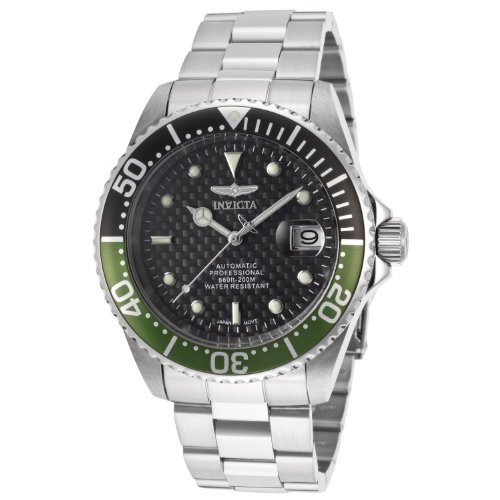 Invicta Men's 15586SYB Pro Diver Analog Display Japanese Automatic Silver Watch, Watch Central