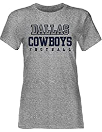 Dallas Cowboys Women's Grey Practice Glitter Tee