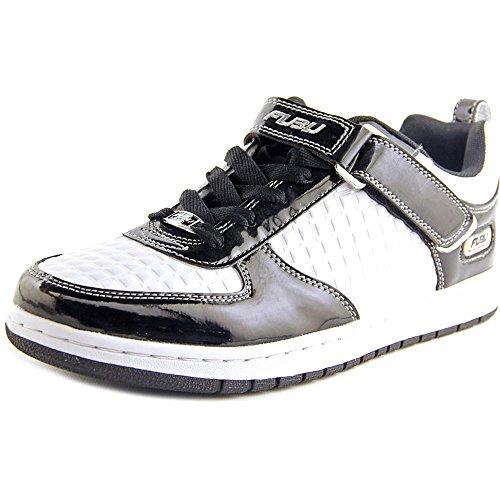 [Fubu Men's Splash Lo White/Black/Silver Casual Shoe 9.5 Men US] (Fubu White Sneakers)