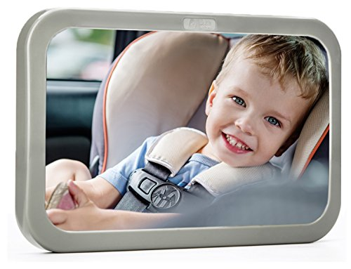 [2017 Model] Back Seat Mirror - Baby & Mom Rear View Baby Mirror - Easily Watch Your Precious Child in-Car - Adjustable, Convex and Shatterproof Glass