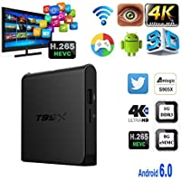 Mercu 1G/8G T95X TV Box Android 6.0 Marshmallow Amlogic A95X 64bit Quad Core Ultra HD 4K 60fps H.265 with WiFi DLNA Smart Set Top Box