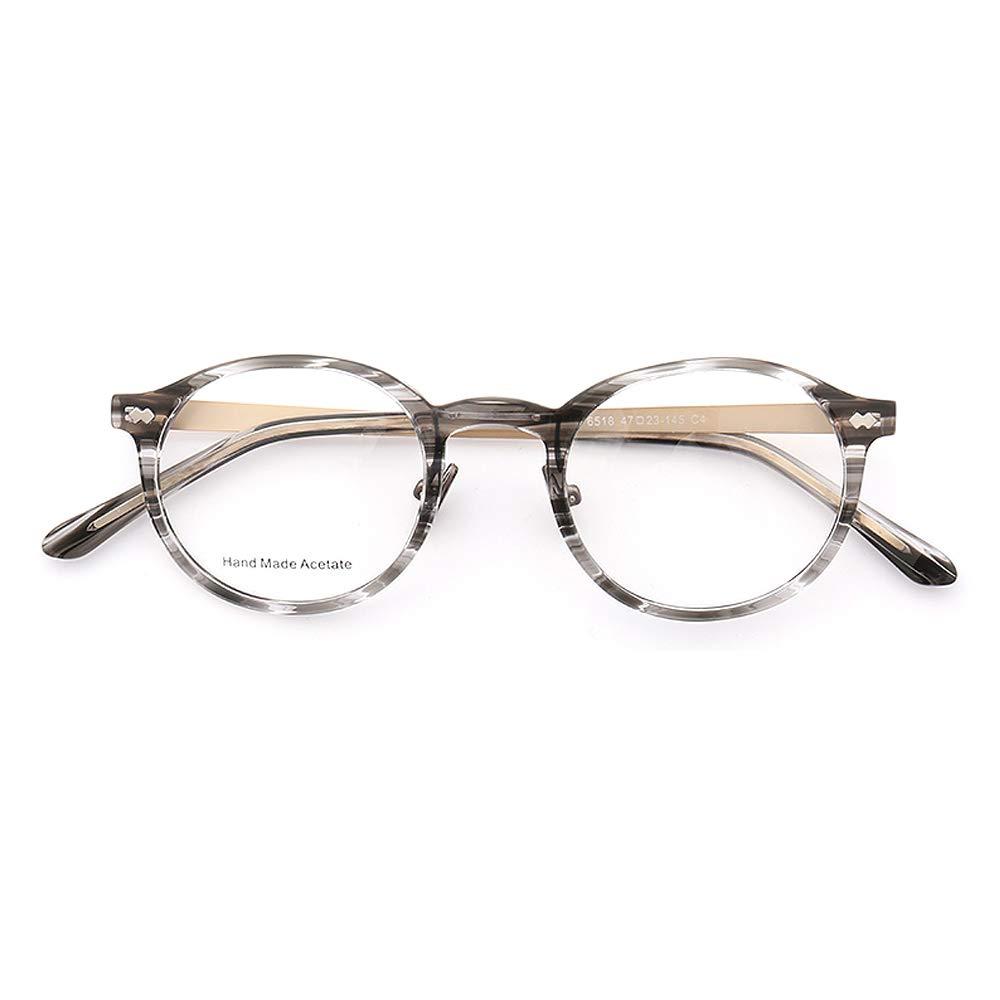 Round Vintage Retro Style Stainless Steel Eyeglass Frames
