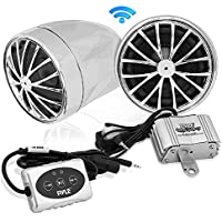 Pyle PLMCA31BT 400-Watt Motorcycle Weatherproof Bluetooth Sound System with Speakers, Amplifier and 3.5mm iPod Input