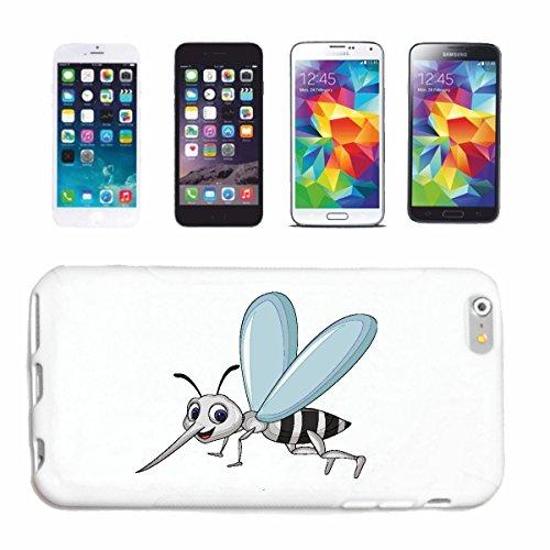 """cas de téléphone iPhone 6+ Plus """"FUNNY MOSQUITO MOUSTIQUE PLIER GUÊPES GUÊPES BEES HUMMEL Vespinae HORNET"""" Hard Case Cover Téléphone Covers Smart Cover pour Apple iPhone en blanc"""