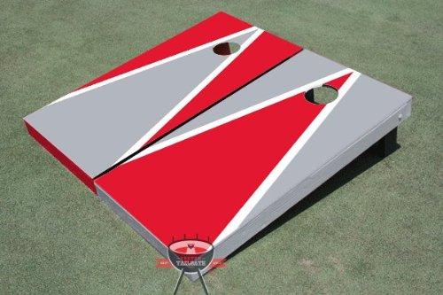 赤とグレー交互三角形Corn穴ボードCornhole Game Game B00CO9SZ7U Set Set B00CO9SZ7U, ミナミマツウラグン:60b8221a --- gamenavi.club