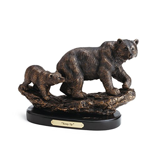 DEMDACO Keep Up Bronze Color 8.5 x 11 Hand-cast Resin Decorative Sculpture