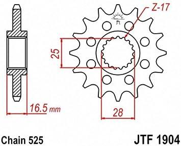 JT Sprockets JTF1904.17 17T Steel Front Sprocket