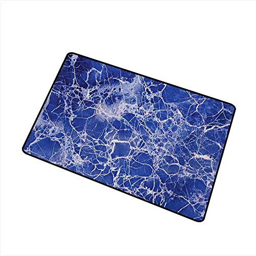 duommhome Door mat Customization Marble Metamorphic Marble with Vibrant Fragmented Pieces and Veins Limestone Modern Art Design W35 xL47 Mildew Proof ()