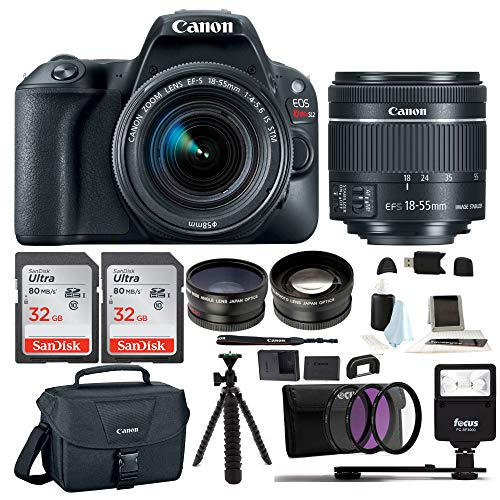 Canon EOS Rebel SL2 Digital Camera with EF-S 18-55mm f/4-5.6 is STM Lens Advanced Photo Travel Bundle