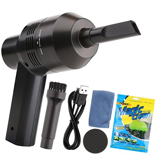 Keyboard Cleaner, USB Rechargeable Mini Vacuum Air Duster with Cleaning Gel, Portable Keyboard Vacuum Cleaner for Cleaning Dust, PC, Hairs, Crumbs, Laptop, Scrap, Piano, Computer, Car and Pet House by Aliengt (Image #8)'