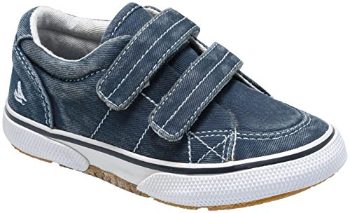 SPERRY Kids' Halyard Hook and Loop Boat Shoe, Navy, 8.5 W US Toddler ()