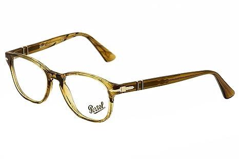 02220967f5 Persol Eyeglasses 3085V 3085 V 1021 Brown Green Full Rim Optical ...