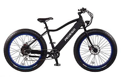 "Pedego Trail Tracker 24"" Fat Tire 2017 Black with Blue 36V 11Ah"