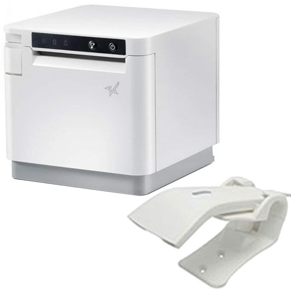 スター精密 据え置き型感熱式プリンター mCollection mC-Print3シリーズ MCP31LB WT JP セット(バーコードリーダー付き) WebPRNT対応 USB Ethernet Bluetooth DK接続 MFi認定 ホワイト   B07JW7QQYN