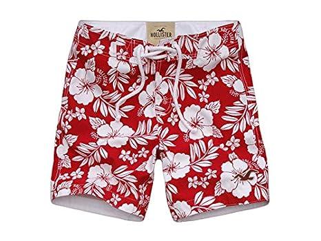 1ab20674f1af2 Hollister Mens Malibu Swim Shorts (XS, Red Floral): Amazon.co.uk: Clothing