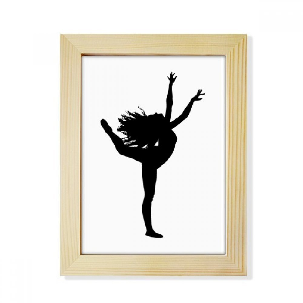 Sports Dance Dancer Performance Art Desktop Wooden Photo Frame Picture Art Painting 6x8 inch